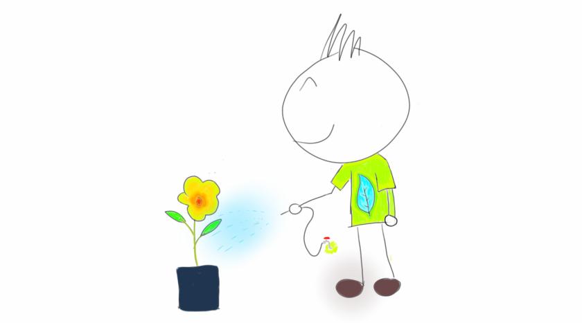 siram bunga